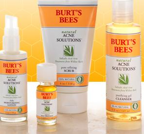 Burt's Bees Natural Acne Line